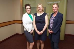 Director of International Business for EisnerAmper Ireland, Jennifer Kelly; CEO of Connect Ireland, Joanna Murphy; and Cliona McGowan, Director of France Ireland Chamber of Commerce.