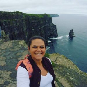Melissa Abourashed at Cliffs of Moher