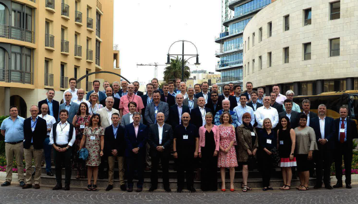 Attendees at the Allinial Global EMEIA Regional Conference in Malta 2018.