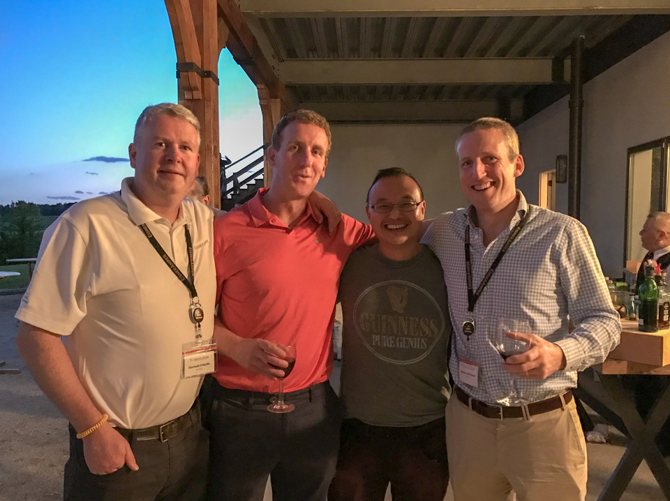 Diarmaid O'Keeffe, Ray Kelly, Ben Leung and Alastair MacDonald at the EisnerAmper LLP Partner Advance in the United States.