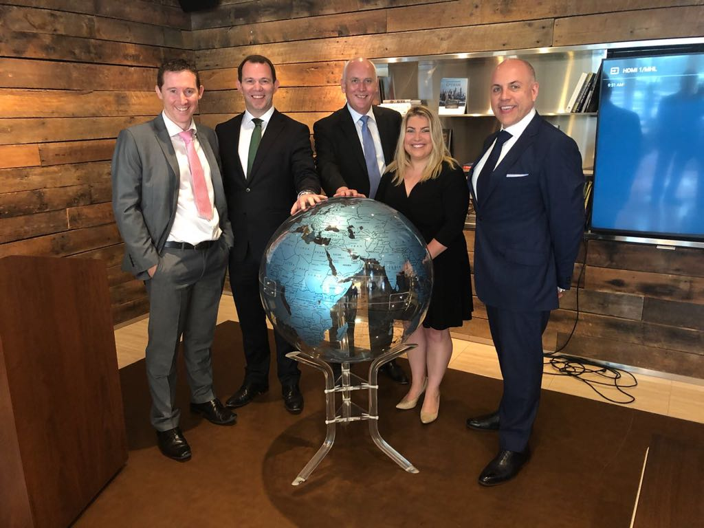 From Left to right: Cormac Doyle, Partner & Head of Tax at EisnerAmper Ireland, Gavin Lee, Head of International Trade at EisnerAmper Ireland, Eric van Aalst, President at Citco Corporate Services, Laura Hamilton, Executive Vice President at RXCelrate and President of the Boston Irish Business Association and Jon Zefi, Tax Partner at EisnerAmper US.