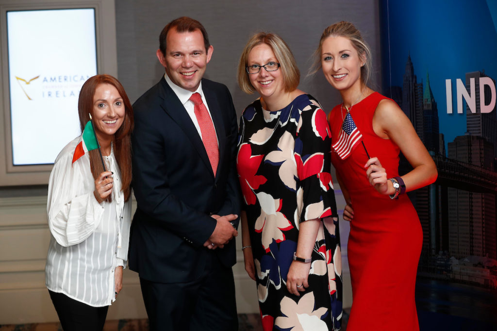 Karen Moloney, Gavin Lee, Jennifer Kelly and Clodagh Byrne at the AmCham Independence Day lunch.