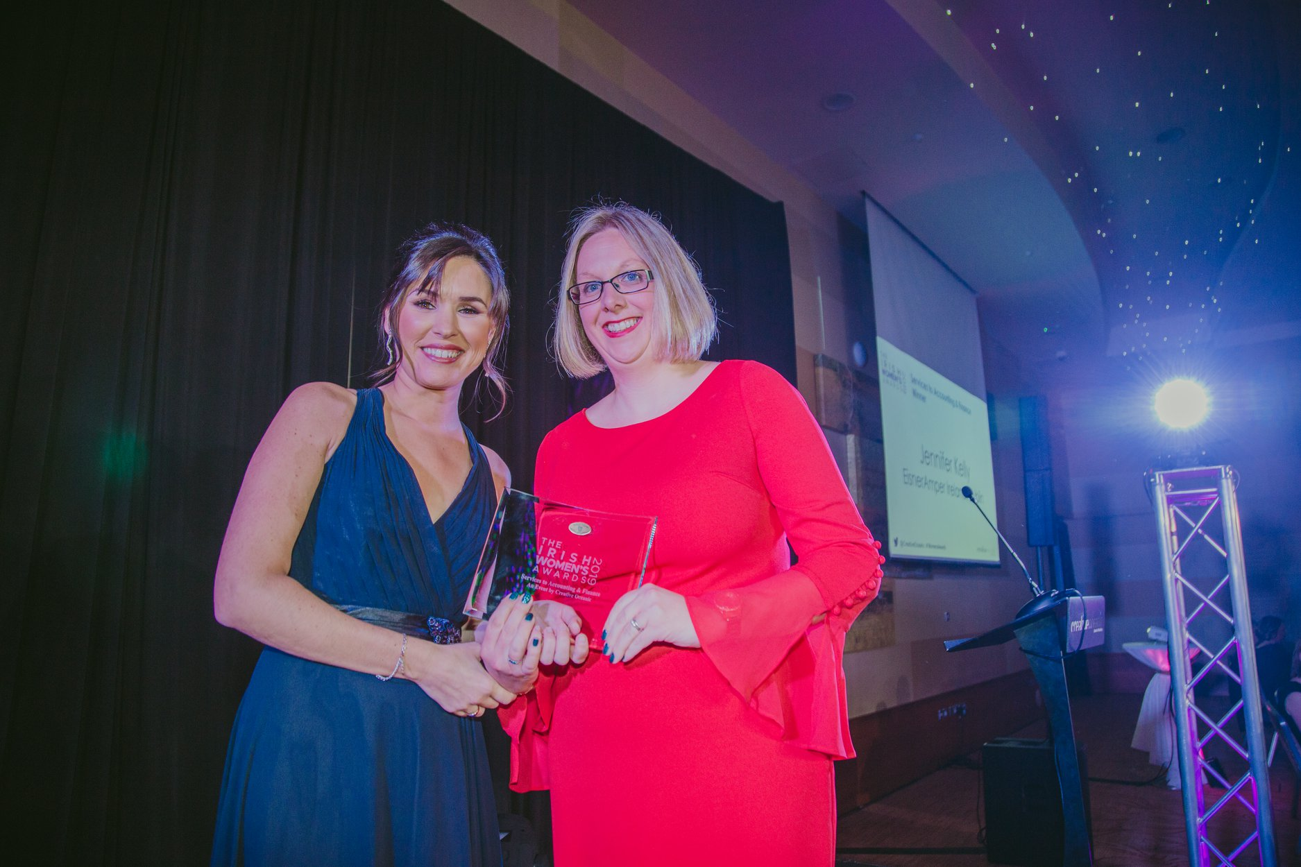 Aideen Hand, TV & Radio Personality and Jennifer Kelly, Partner and Head of Outsourcing at EisnerAmper Ireland.