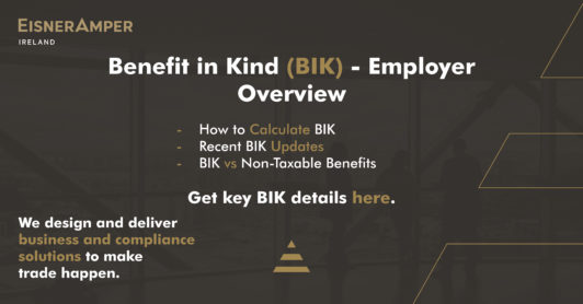 BIK Benefit In Kind Employer Overview Image | Payroll Services Insights | Financial Services | EisnerAmper Ireland