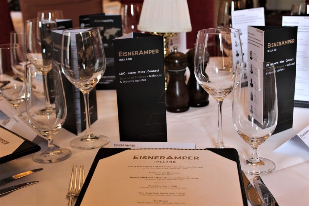 Table Setting | Learn Dine Connect | Structured Finance | Technical Industry Updates | Financial Services | EisnerAmper Ireland