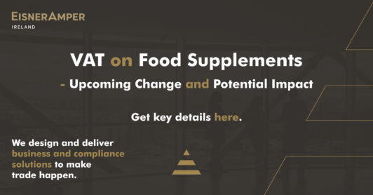 VAT on Food Supplements Graphic | Tax Services Insights