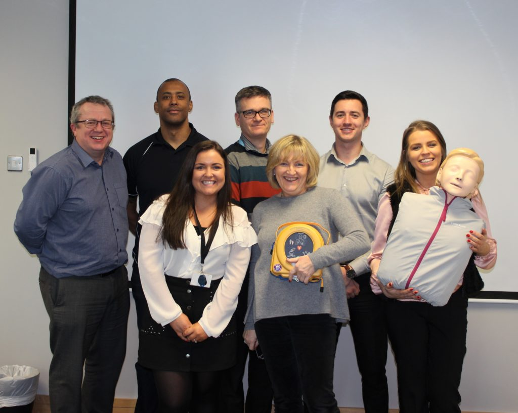 Defibrillator training | CSR | Financial Services | EisnerAmper Ireland