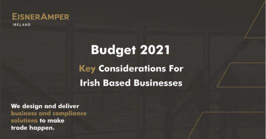Budget 2021 | Tax Services | EisnerAmper Ireland | Financial Services
