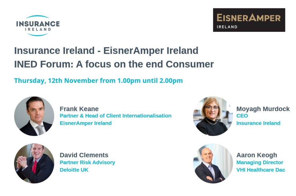 Insurance Ireland | INED | Webinar | EisnerAmper Ireland | Financial Services