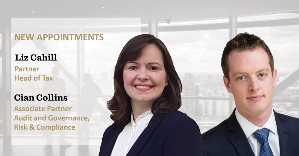 New Appointments | Liz Cahill | Cian Collins | EisnerAmper Ireland